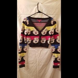 Betsey Johnson crop sweater Marilyn Monroe